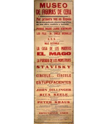 CARTEL MUSEO FIGURAS DE CERA COLECCION ROCA/MAGICANTIC