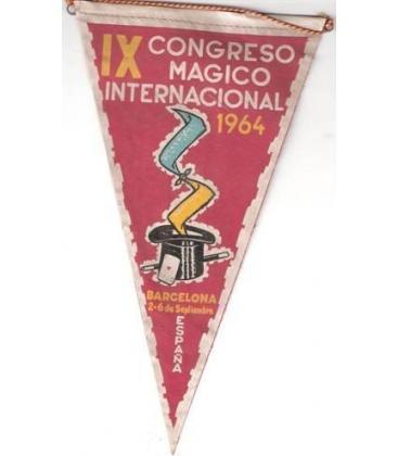 BANDERIN IX CONGRESO MAGICO INTERNACIONAL /1964/MAGICANTIC/K 30