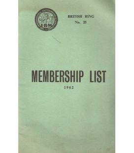 IBM MEMBERSHIP LIST 1962/MAGICANTIC /K3