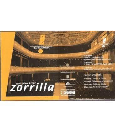 PROGRAMA TEATRE ZORRILLA GENER-FEBRER 2002/MAG/K72