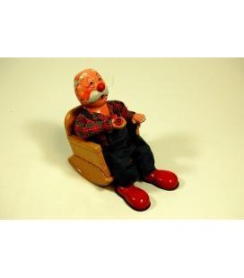 Smoking Grandpa Tin Toy