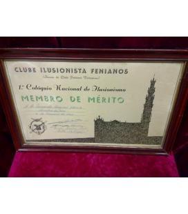 DIPLOMA CLUBE ILUSIONISTA FENIANOS/MAGICANTIC