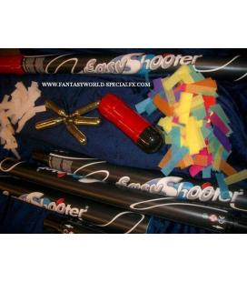 PACK RECAMBIOS EASY SHOOTER 2 LANZADORES CONFETI MULTICOLOR + 2 CARGAS CO2