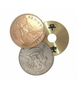 Copper Silver Coin - Half Dollar & English Penny